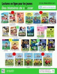 Livres jeunesse sur la thématique du soccer
