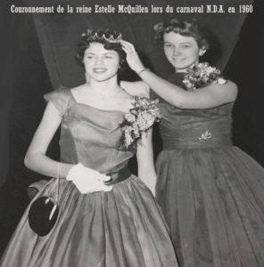 Couronnement de la reine du Carnaval, 1960, NDA. Photos du Carnaval N.D.A